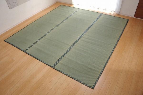 純国産 減農薬栽培 い草 上敷き カーペット 糸引織 『西陣』 六一間2畳(約185×185cm) 熊本県八代産イ草使用