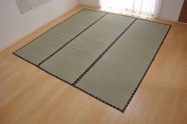 純国産 い草 上敷き カーペット 糸引織 『立山』 本間8畳(約382×382cm) 熊本県八代産イ草使用