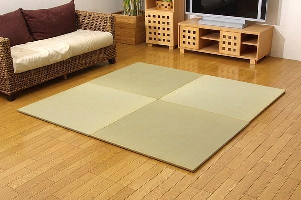 『シンプル』 ユニット畳 88×88×2.7cm(2枚1セット) 純国産 置き畳