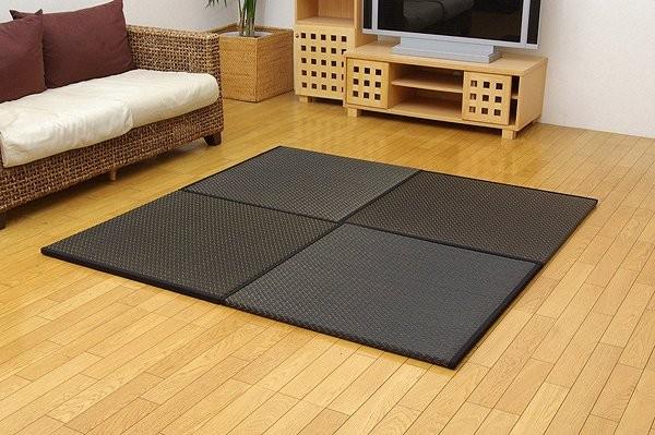 純国産 置き畳 ユニット畳 『右京』 ブラック 82×82×2.5cm(6枚1セット)