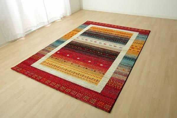 トルコ製 ウィルトン織り カーペット 『ノマド RUG』 約160×230cm