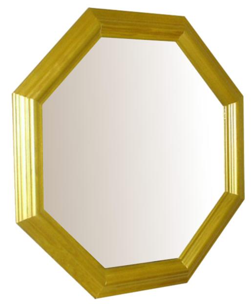 風水,八角形,鏡,ミラー,壁掛け鏡,ウォールミラー,幸運ゴールド