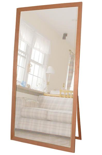 無塗装フレームスタンドミラー(幅85cm)[鏡][姿見]