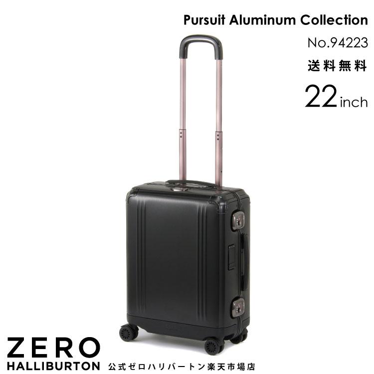 スーツケース ゼロハリバートン Pursuit Aluminum Collection 39リットル アルミ ブラック 2~3泊程度のご旅行に 22インチ 94223