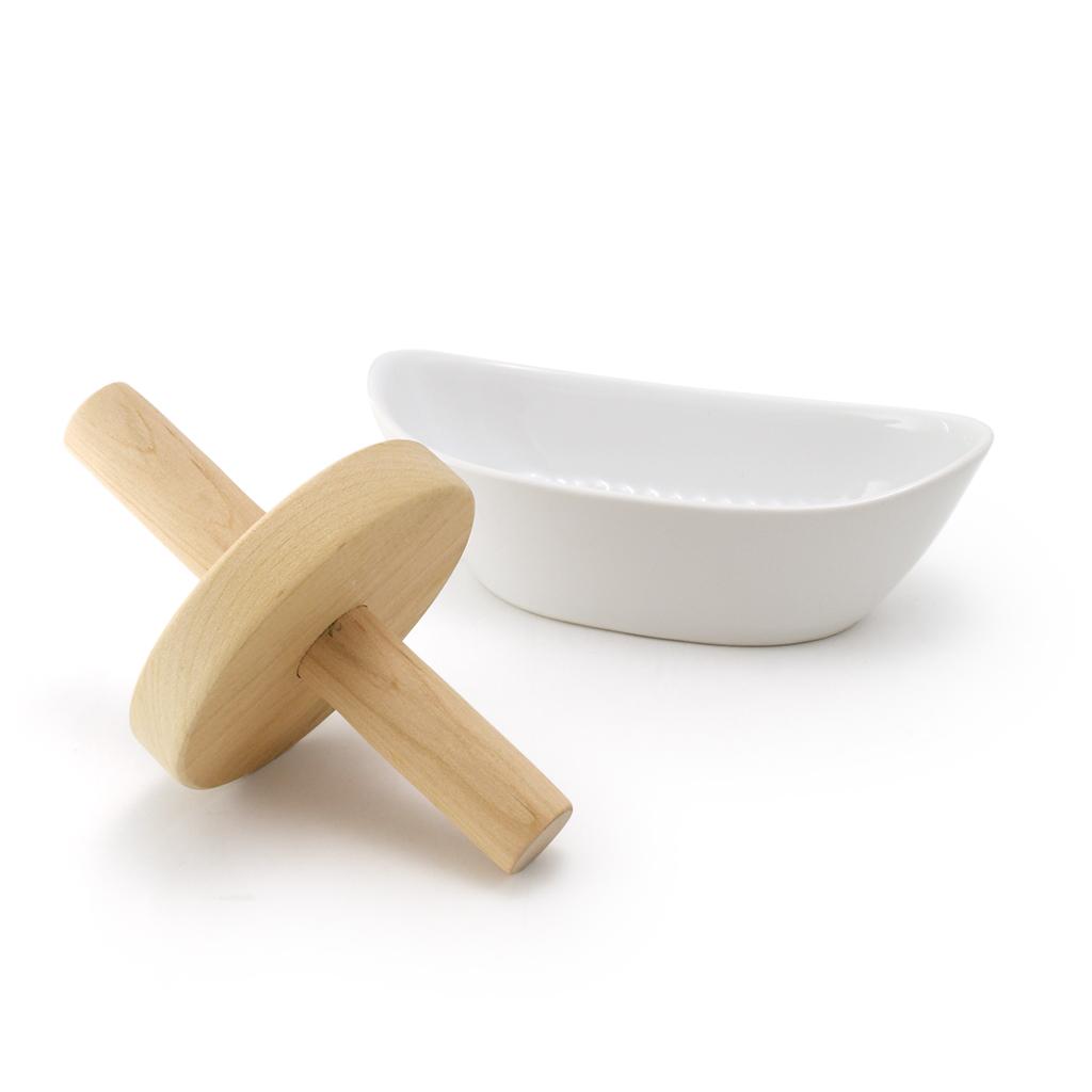 ゼロジャパン 日本製 新品未使用正規品 即納 ハーブをすりつぶす薬研 ZEROJAPAN ハーブすり鉢木製ローラー付き