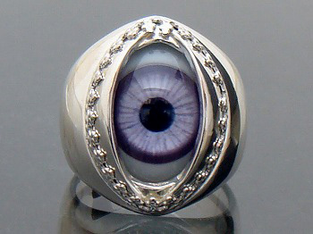 Domestic brand Silver 925 real eye ring TSR-104 Purple [Eyring], [eyeball ring first ring