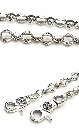 Domestic brand WJ-39 short Wallet Chain Sterling Silver silver wallet chain, silver wallet chain