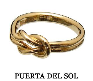 PUERTA DEL SOL(プエルタデルソル)R975YG ノットリング(イエローゴールド)結びイ目デザイン/本結び/K18金ゴールド【メンズリング/レディースリング/ゴールドリング】【8号~24号】【ペアーリング】【ギフト包装_対応】