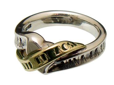PUERTA DEL SOL(プエルタデルソル)【R1001YG】タトゥ ハート リング 指輪【シルバー ゴールド】【5号~23号】【ギフト包装-対応】