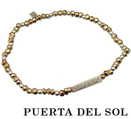 PUERTA DEL SOL(プエルタデルソル)【BR1044】 ゴールド パイライト ビーズ ブレスレット【ギフト包装-対応】