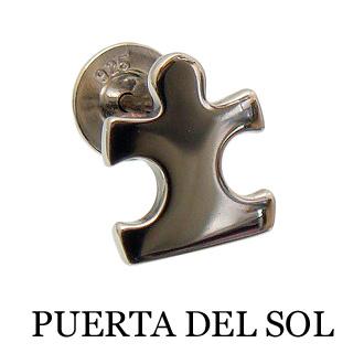 PUERTA DEL SOL 卸直営 プエルタデルソル 激安 激安特価 送料無料 ピアス シルバー950 PC1069-A ポスト シルバー パズル ギフト包装-対応 ピース チタン