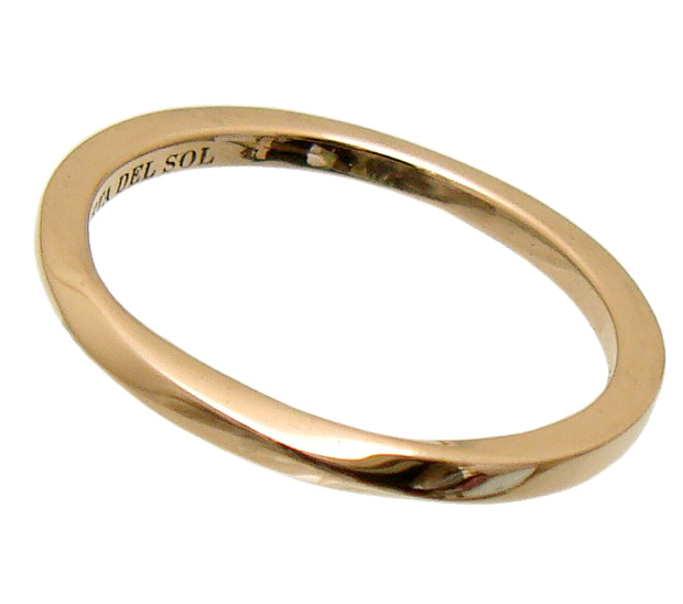 PUERTA DEL SOL(プエルタデルソル)【R1087PG】10金 ゴールド メビウス リング 指輪[5号~21号]【ギフト包装-対応】