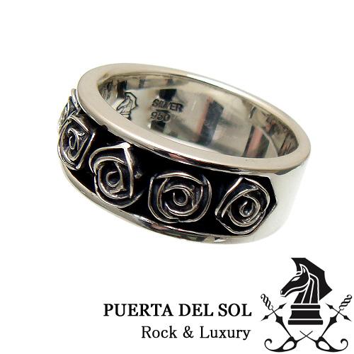 PUERTA DEL SOL プエルタデルソル R1142 チャンネル ローズ シルバー リング 指輪 バラ 薔薇【ギフト包装-対応】