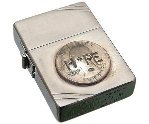 [即日発送] amp japan(アンプジャパン)・12ALD-401 Zippo1935年復刻モデル ヴィンテージジッポw/アンティークリアルコイン/ダイヤモンド HOPE【Special BOX/フリント(石)、オイル付】【smtb-k】【kb】