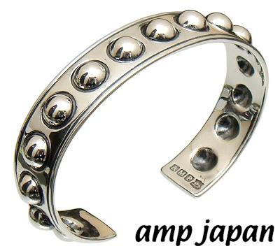 amp japan アンプジャパン 15AH 311 ハイブリッドサークルスタッズバングル 真鍮 シルバー925圧着加工 イブシ加工 ブレスレット シルバーボール シルバーバングルブレスレット メンズ レディースギフト 対応1サイズフリーlKc3TF5u1J