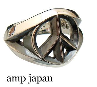 amp japan(アンプジャパン)【16AC-201 ラージ】 ピースマーク リング (指輪)【シルバー925/】【17号 21号】【ギフト包装-対応】