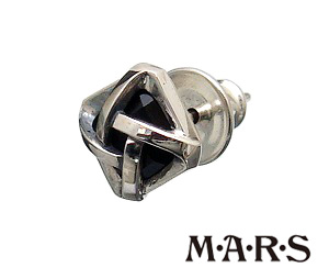 【あす楽対応】M・A・R・S(M.A.R.S/MARS/マーズ)【M2219P】コンポジット オニキス スタッド ピアス【シルバー925 オニキス】【ギフト包装-対応】