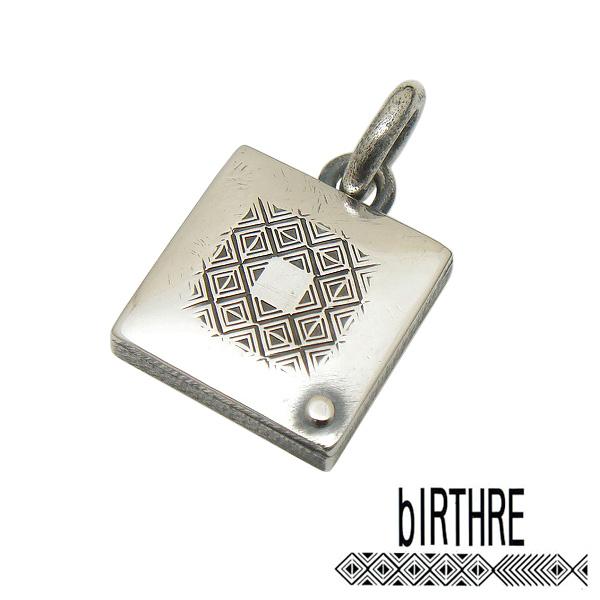 bIRTHRE(バースレ)【T-49】スクエアー ペンダント トップ【シルバー】【ギフト包装-対応】