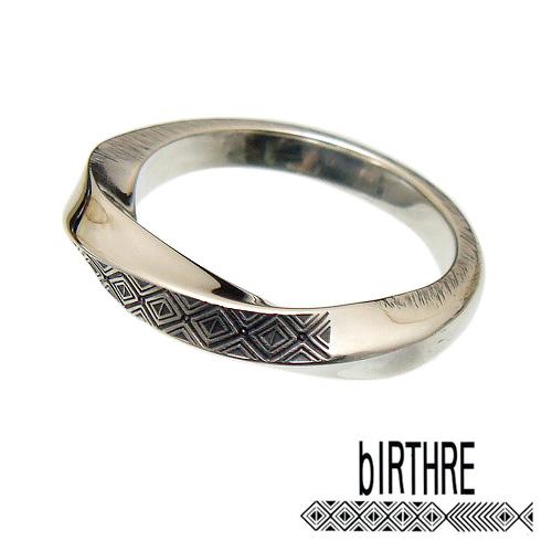 bIRTHRE(バースレ)【R-30】Engraving ツイスト リング 指輪 [5号~23号]【シルバー 950】【メンズ リング レディース リング シルバー リング ペアー リング 指輪 モチーフ オール ハンドメイド 1点 製作 打刻】【ギフト包装-対応】