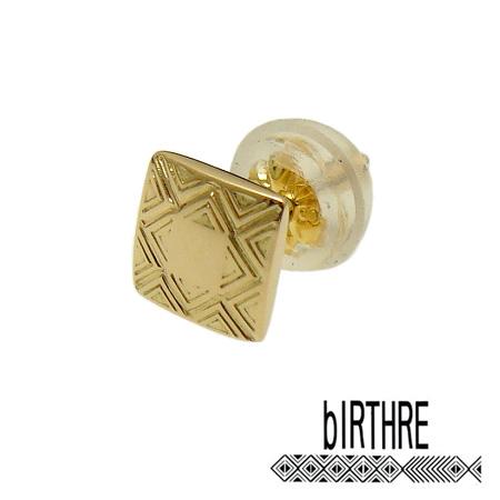 【あす楽対応】bIRTHRE(バースレ)【P-17-K14】Engraving スタッド ピアス【K 14 金 ゴールド】【ギフト包装-対応】
