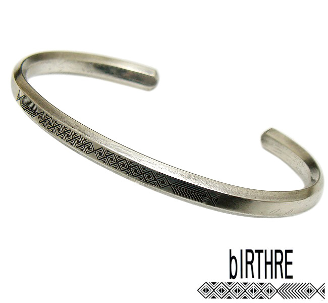 bIRTHRE(バースレ)【B-8SV】Engraving シルバー バングル ブレスレット【シルバー 950】【ギフト包装-対応】