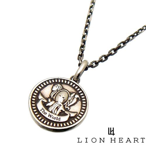 [3日以内に発送] LION HEART ライオンハート 01NE0831WO タロット カード インテント コイン ペンダント ネックレス [チェーン 付] [THE WORLD] 【ギフト包装-対応】