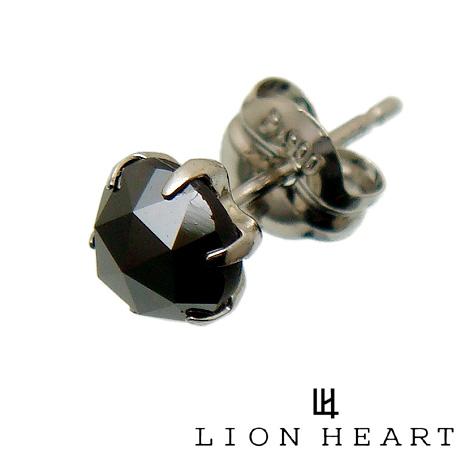 【あす楽対応】 LION HEART ライオンハート 01EA0164BK プラチナ PT900 ブラック ダイヤモンド ピアス【ギフト包装-対応】