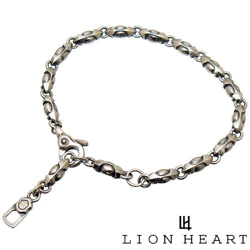 【あす楽対応】LION HEART ライオンハート 01BR0011SV シルバー925 ファングド デザイン チェーン ブレスレット 【ギフト包装-対応】
