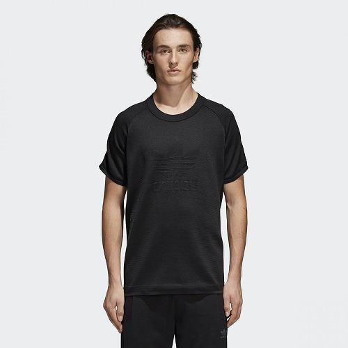 アディダスオリジナルス adidas Originals 半袖Tシャツ TEE 送料無料限定セール中 KNITTED CW1350 BLACK 贈与