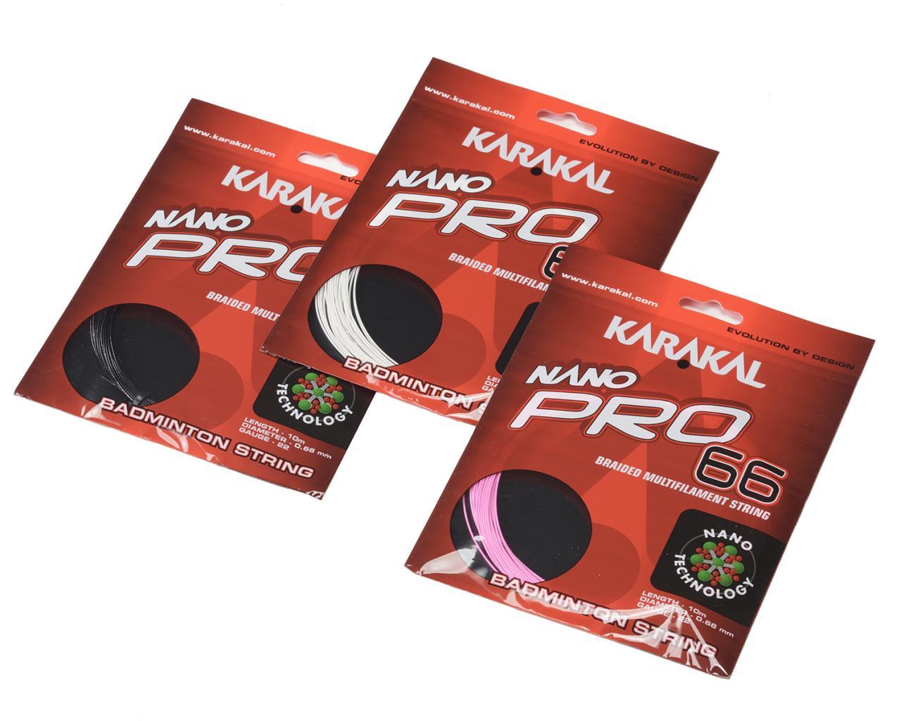 バドミントン ストリング バドミントンストリング バドミントンガット KARAKAL 最高の反発+響き+耐久性 NANO PRO あす楽対応 0.66mm ネコポス選択で送料385円 10m 1本分 66 カラカル SALE 期間限定で特別価格