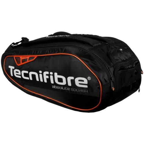 Tecnifibre Technifibre 12r Absolute Orange Squash Racket Bags 12 Pieces