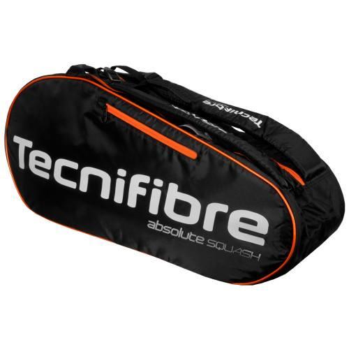 Tecnifibre Technifibre Absolute Orange 6r Squash Racket Bags 6 Pieces
