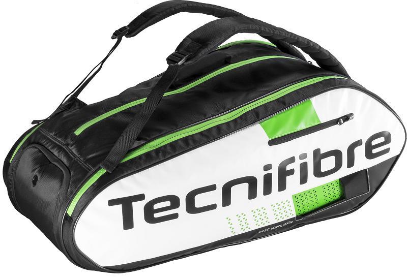 テニス スカッシュ バドミントン ラケットバッグTecnifibre(テクニファイバー) SQUASH GREEN 12R(ラケット12本収納可能)【あす楽対応】【送料無料】