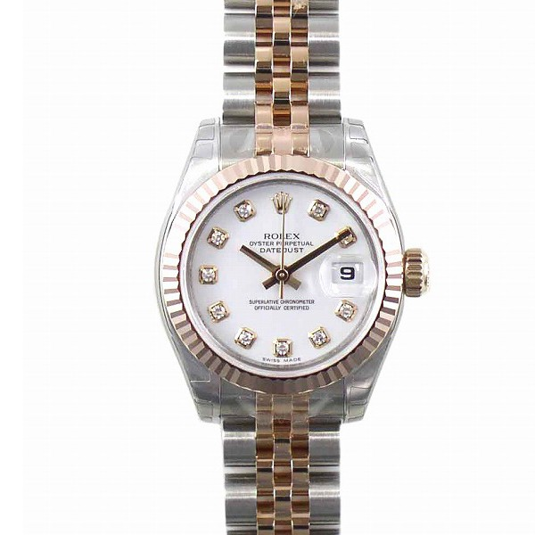 ロレックス ROLEX デイトジャスト Ref.179171G ホワイト10Pダイヤ