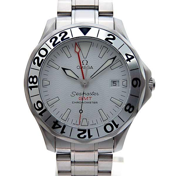 奥米伽OMEGA海主人GMT 2538-20白300m防水42mm自動卷新貨