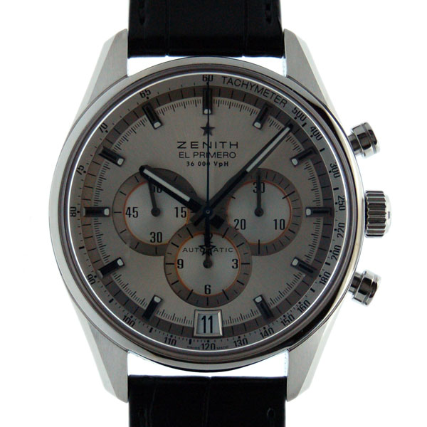 Zenith ZENITH El Primero 36000 VPH 03.2040.400/04.C496 SS silver 42 mm leather new