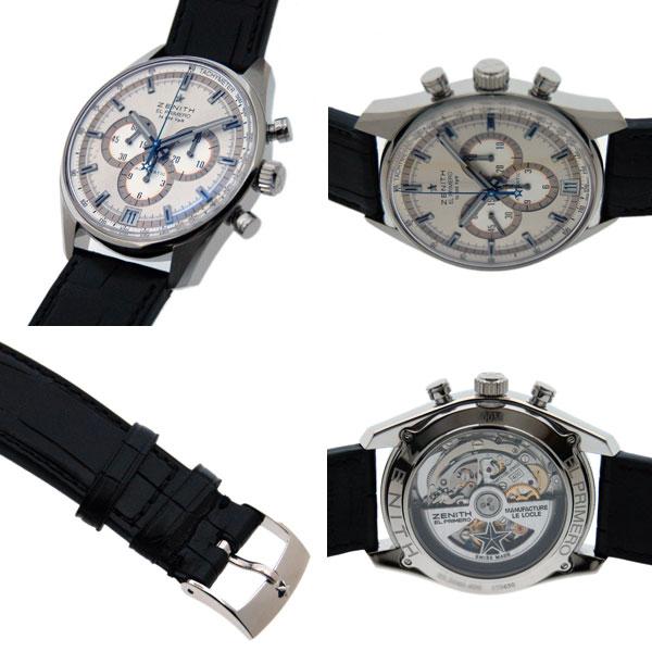 Zenith ZENITH El Primero 36000 VPH 03.2040.400/04.C496 SS silver 42 mm leather new