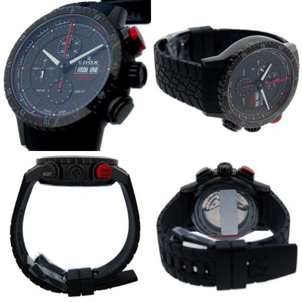 Edox EDOX Chrono rally 1 chronograph   01118 37NR NRO automatic winding SS  black brand new e24321784cd
