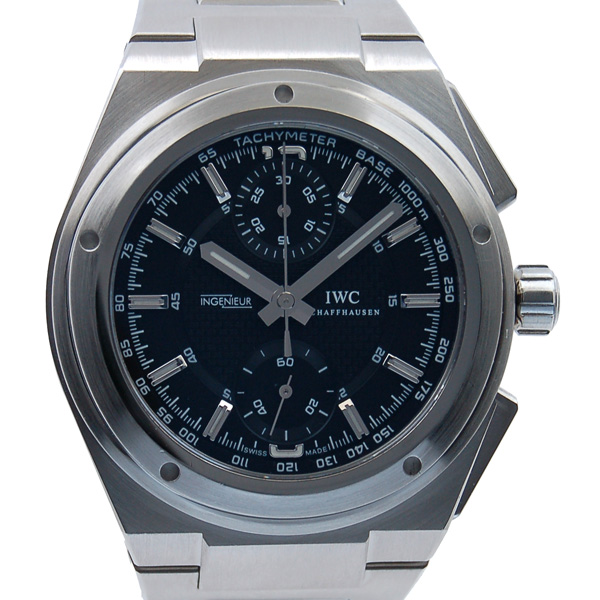 the latest db808 a0bf8 IWC international watch Company in youth chronograph IW372501 self-winding  watch SS black USED