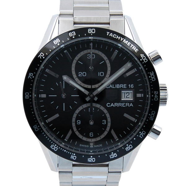 lowest price 9dbee c21a4 Tag Heuer TAG HEUER カレラタキメータークロノ chart calibre 16 CV201AJ.  BA0727 SS black
