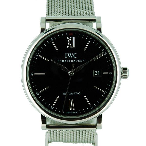 【保証書有り】IWC インターナショナルウォッチカンパニー ポートフィノ IW356506 SS 40mm ブラック USED 【中古】