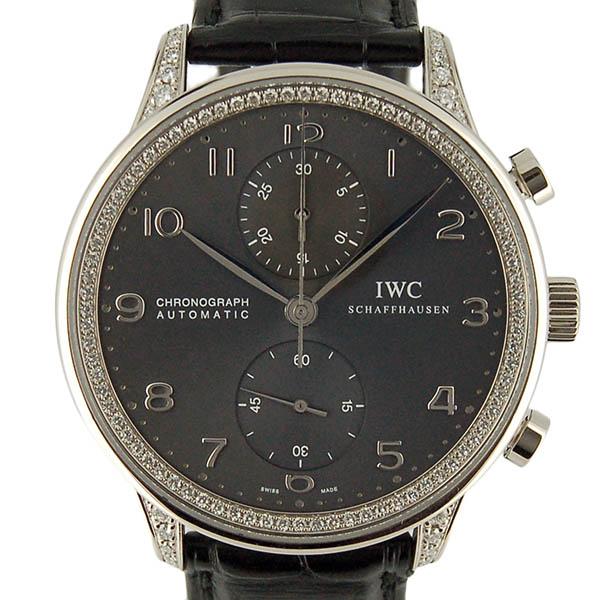IWC ポルトギーゼ クロノグラフ ダイヤモンドコレクション IW371474 ホワイトゴールド 革ベルト USED 【中古】