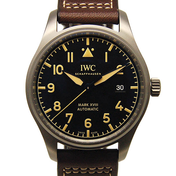 【新品】IWC パイロットウォッチ マーク18 ヘリテージ IW327006 ブラック チタン 40mm 革