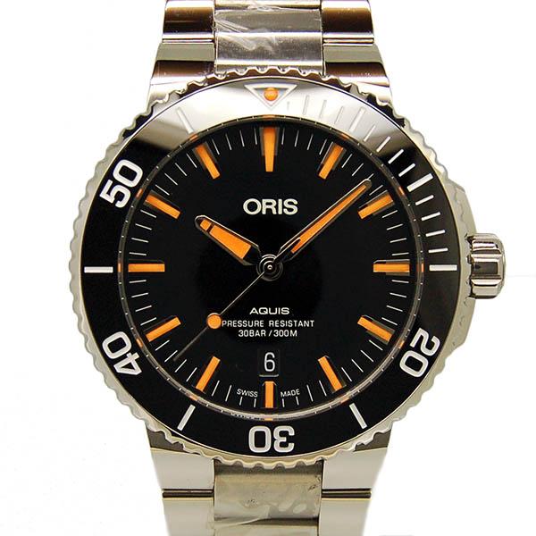 【新品】オリス ORIS アクイス デイト 733 7730 4159M SS 43.5mm ブラック