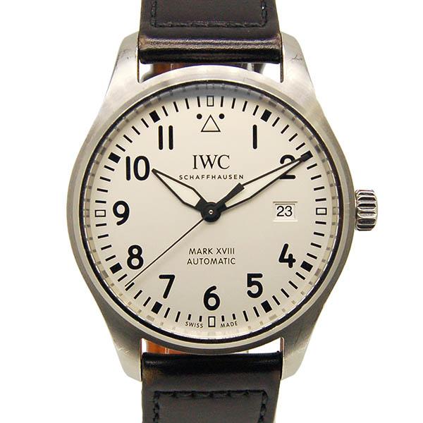 【保証書有り】IWC パイロットウォッチ マーク18 IW327002 シルバー 革 USED 【中古】