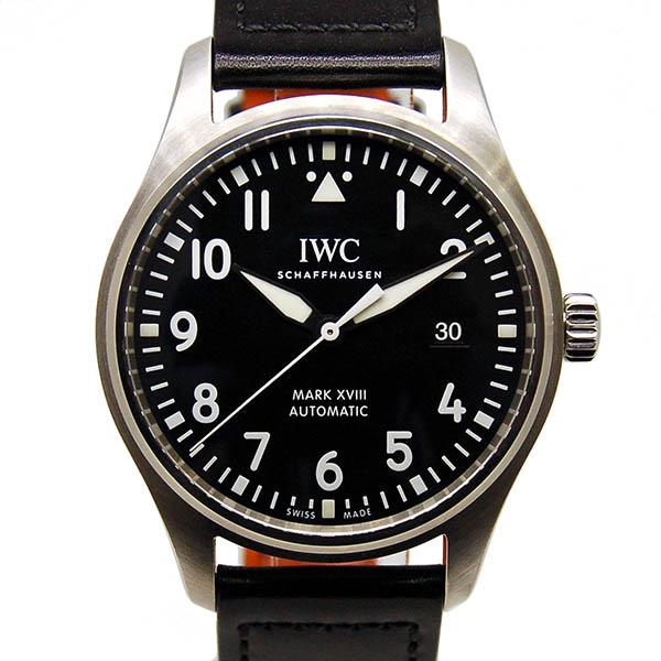 【保証書・箱あり】IWC パイロットウォッチ マーク18 IW327001 ブラック 革 USED 【中古】