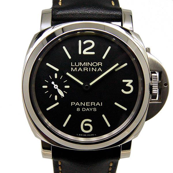【保証書有り】【仕上げ済み】パネライ PANERAI ルミノールマリーナ 8デイズ PAM00510 SS 44mm 手巻き ブラック