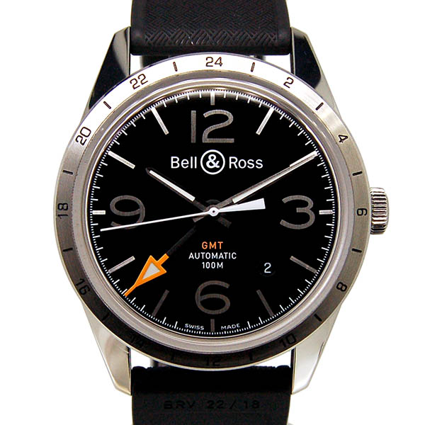 Bell&Ross【ベル&ロス】 BR123 GMT 24H 8116 腕時計 SS メンズ