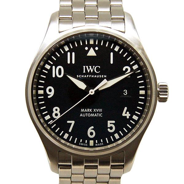 【保証書有り】【仕上げ済み】IWC パイロットウォッチ マーク18 IW327011 ブラック USED 中古
