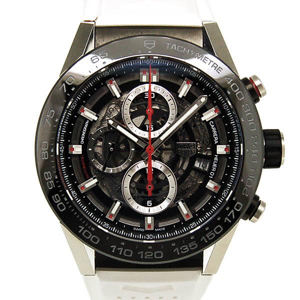 TAG HEUER【タグホイヤー】 カレラ キャリバー ホイヤー01 ブラック ラバー CAR2A1Z.FT6044 腕時計 /SS(ステンレススチール)/チタン メンズ